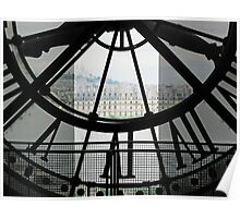 Back of Time-Paris from inside clock tower Poster