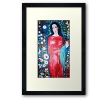 """  lady with perfume "" Framed Print"