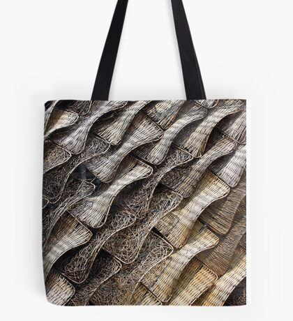 Wicker Tapestry-Roof of Spanish Pavillion, Shanghai Tote Bag