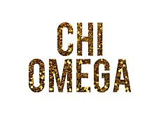 Chi O Gold Glitter Photographic Print