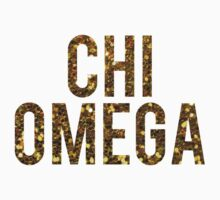Chi O Gold Glitter by rosiestelling