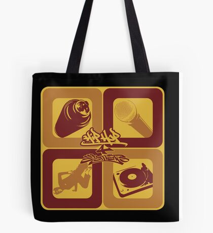 4 Elements of Hip Hop Tote Bag