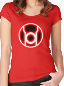 RED LANTERN - RAGE! Women's Fitted Scoop T-Shirt