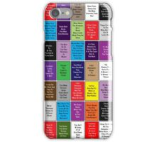 Fall Out Boy Lyric Montage iPhone Case/Skin
