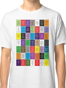 Fall Out Boy Lyric Montage Classic T-Shirt