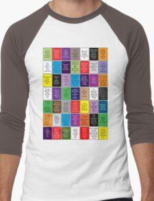 Fall Out Boy Lyric Montage Men's Baseball ¾ T-Shirt