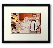 at least honey, you didnt burn the beer!! Framed Print