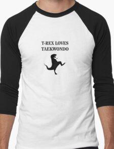 T-Rex Loves Taekwondo Men's Baseball ¾ T-Shirt