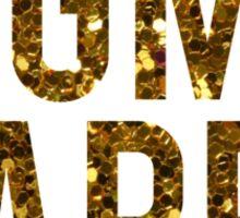 Sigma Kappa Gold Glitter Sticker