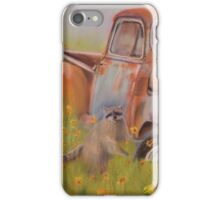 Old Truck and Racoon iPhone Case/Skin