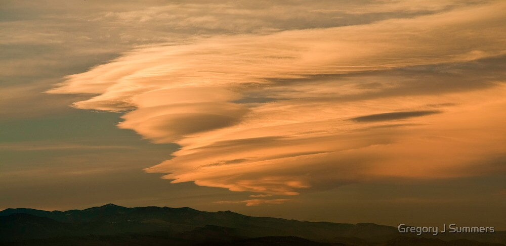 Waves Of Gold - Sunset Over The Plains by nikongreg