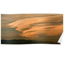 Waves Of Gold - Sunset Over The Plains Poster