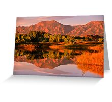 Reflections - Sunrise On The Colorado Foothills Greeting Card