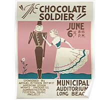 WPA United States Government Work Project Administration Poster 0163 The Chocolate Soldier Municipal Auditorium Long Beach Poster