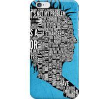 Typography Marla Singer iPhone Case/Skin