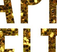 Kappa Delta Gold Glitter Sticker