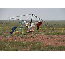 Hill's Hoist in the outback. Photographic Print