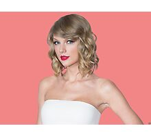 Taylor Swift Pink Red Photographic Print