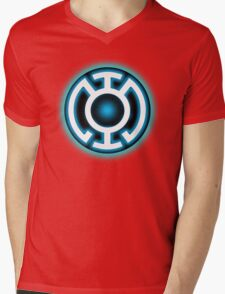 Blue Lantern - HOPE! Mens V-Neck T-Shirt