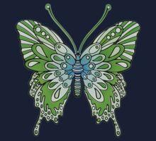 Original Butterfly Design Green One Piece - Short Sleeve