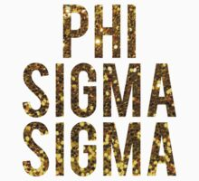 Phi Sigma Sigma Gold Glitter by rosiestelling