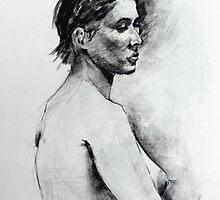 Life study charcoal drawing by Mick Kupresanin
