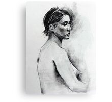 Life study charcoal drawing Canvas Print