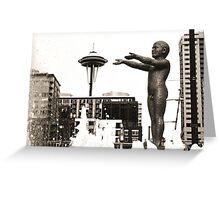 Seattle Fountain Greeting Card