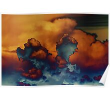 Blue And Gold Clouds Poster