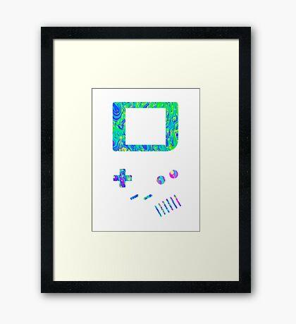 __gameboy psychedelic green Framed Print