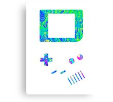 __gameboy psychedelic green Canvas Print