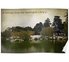 Greetings from the Huntington Library Poster