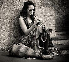 Blowing her own Trumpet by Christine  Wilson Photography