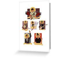 A bunch of Sufjans Greeting Card