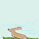 Windy Dachshund by Diana-Lee Saville