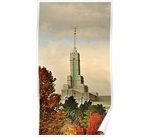 Mount Timpanogos Temple - Late Autumn Poster