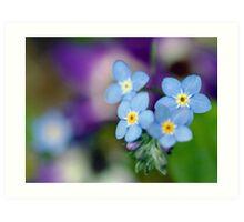 Blue Floral Mood Art Print