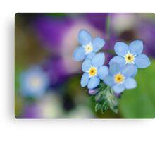 Blue Floral Mood Metal Print