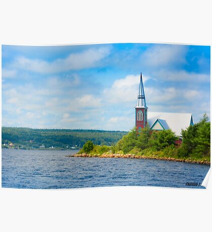 St Marks in Middle LaHave, Nova Scotia Poster