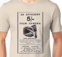 'Efficient Camera - 5 shillings!' Advert T-shirt etc.... Unisex T-Shirt