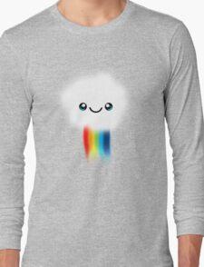 Happy Kawaii Rainbow Cloud Long Sleeve T-Shirt