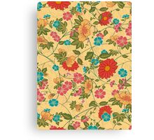 Abstract Colorful Floral Collage Canvas Print
