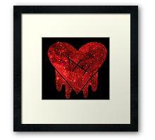 Gravity Falls Robbie Heart Galaxy Print Framed Print