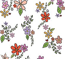 Simplified floral pattern by leishadesigns