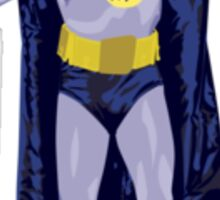 Adam West as..... The Batman! Sticker