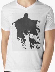 Dementor & patronus  Mens V-Neck T-Shirt