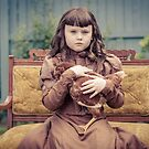 A Girl and Her Pet Chicken by Ryan Conners