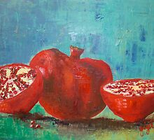 Pomegranate Red Pomegranates by Gigi Guimbeau