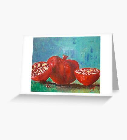 Pomegranate Red Pomegranates Greeting Card