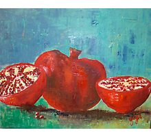 Pomegranate Red Pomegranates Photographic Print